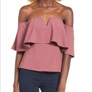 Leith Ruffle Off Shoulder Top